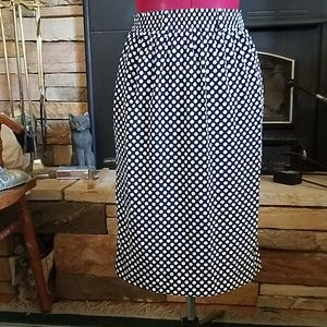 Evan Picone Polka Dot Midi Skirt sz 4 Petites